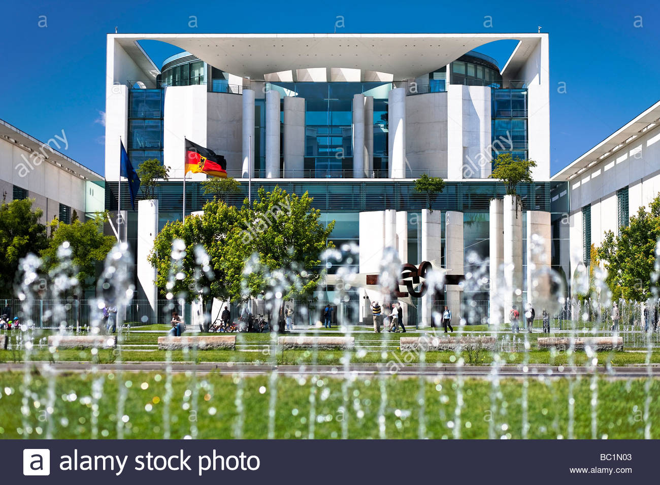 German federal chancellery building, Berlin, Germany - Stock Image