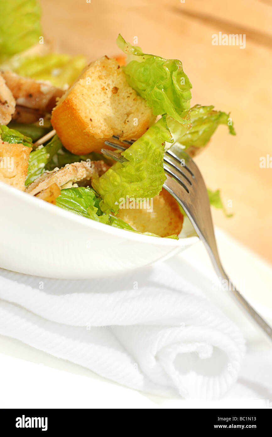 Fresh Chicken Caesar salad - Stock Image