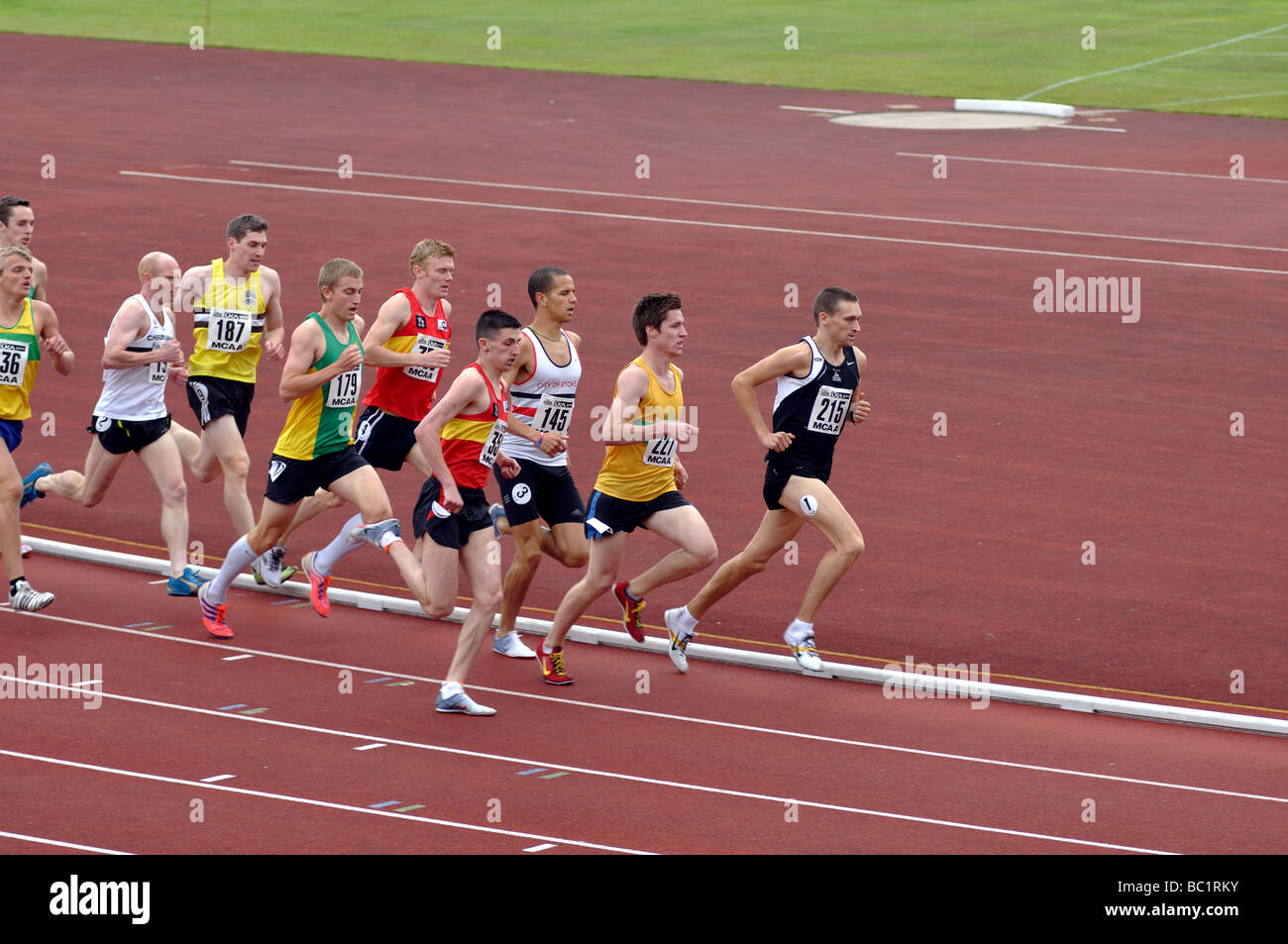 Runners in 1500 metres race - Stock Image