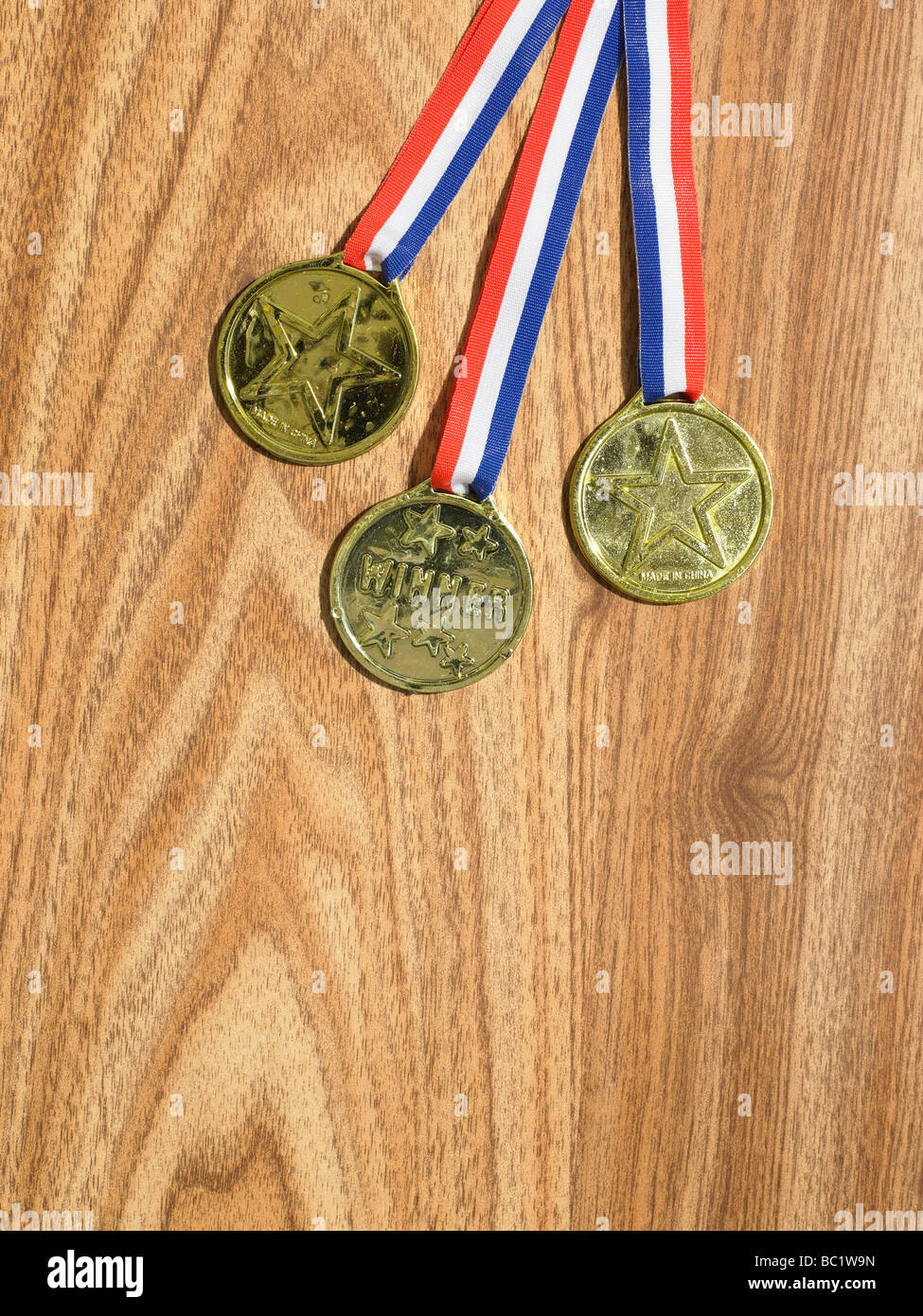 fake medals - Stock Image
