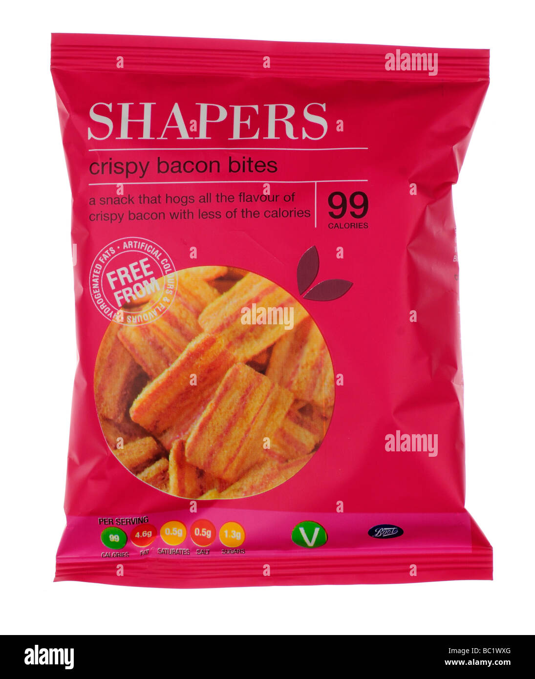 Packet of Boots Shapers Crisps - Stock Image