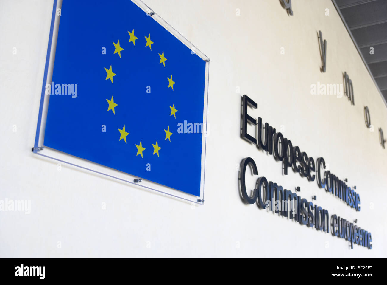 Exterior Of European Commission Building - Stock Image