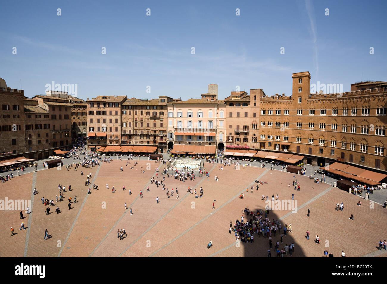 Piazza del Campo at Siena - Stock Image