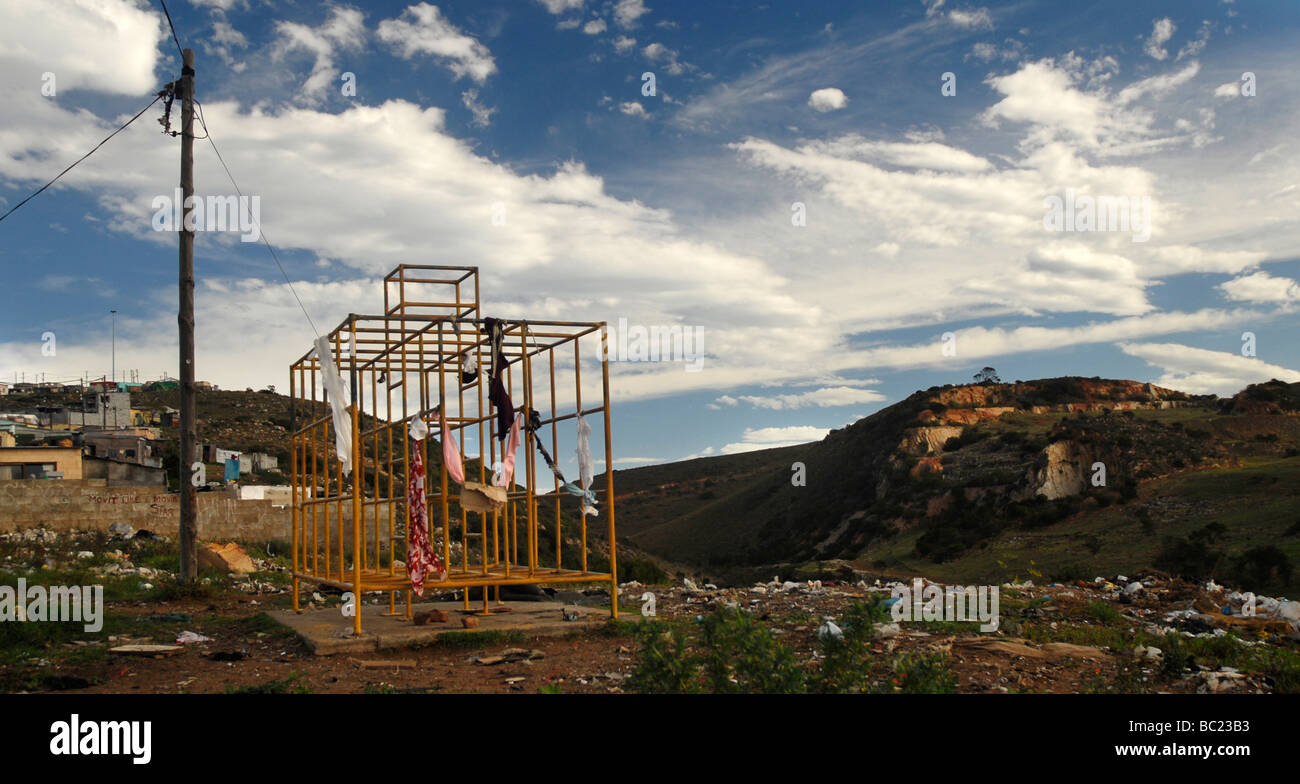 A dilapidated playground in Port Elizabeth's impoverished suburb of Helenvale. - Stock Image