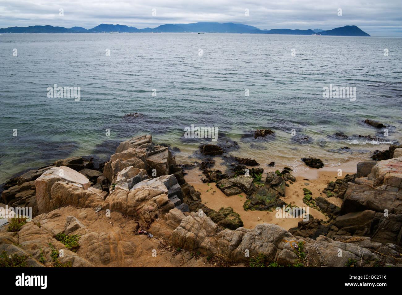 Shodoshima across the Seto Inland Sea from Shikoku Japan - Stock Image