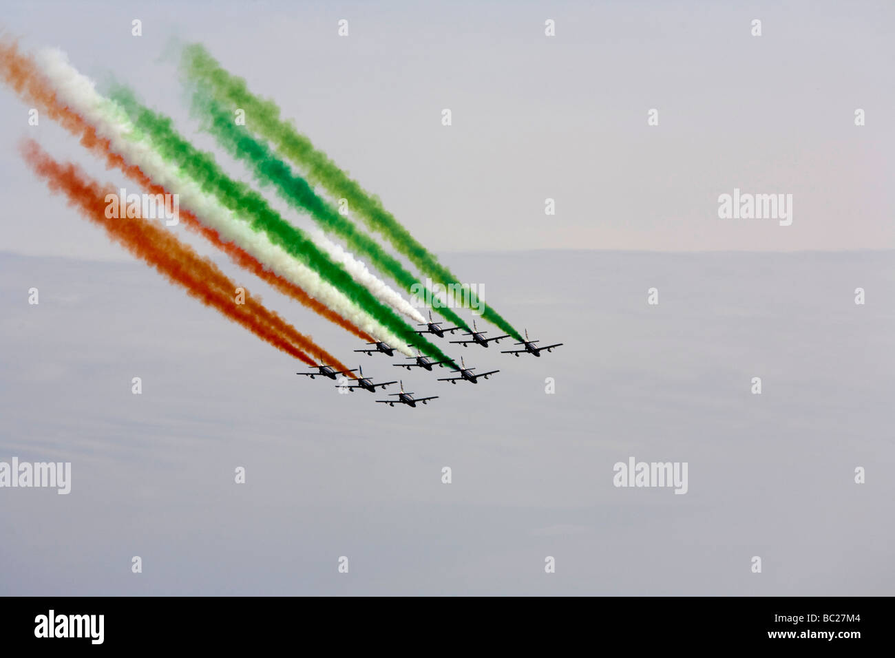 Frecce tricolori the acrobatic italian team planes Stock Photo