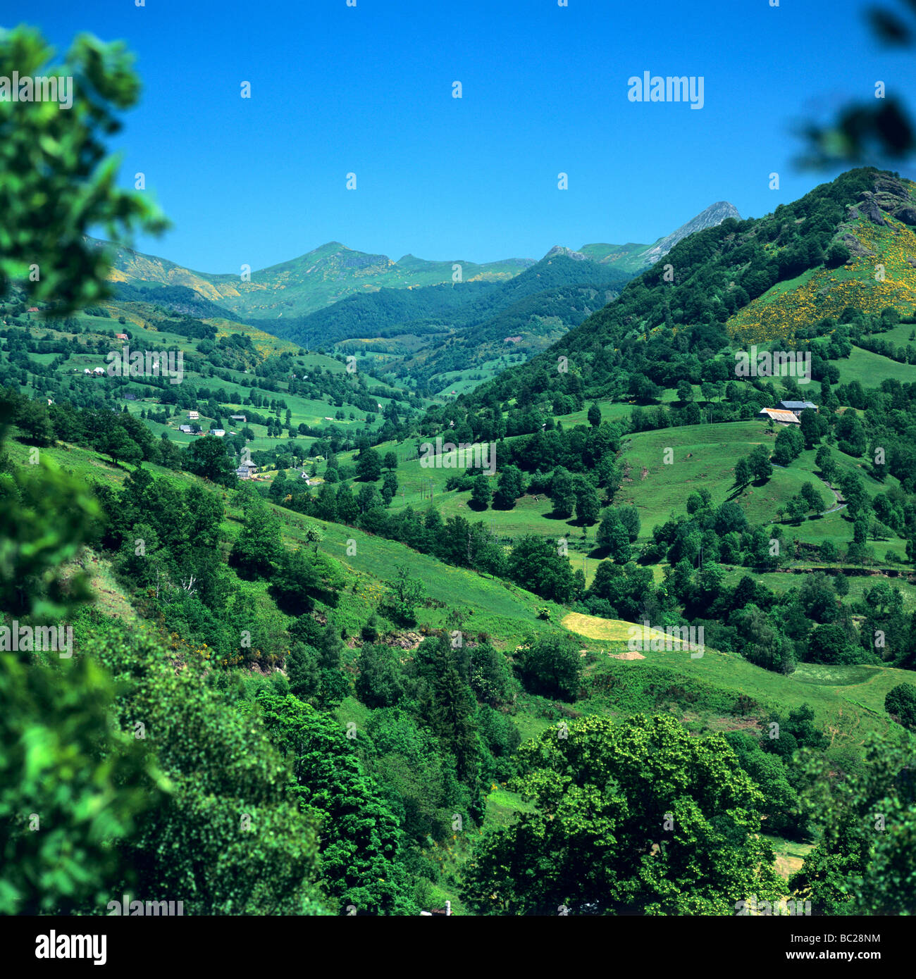 Puy Mary, Cantal, Auvergne, France, Europe in the spring - Stock Image