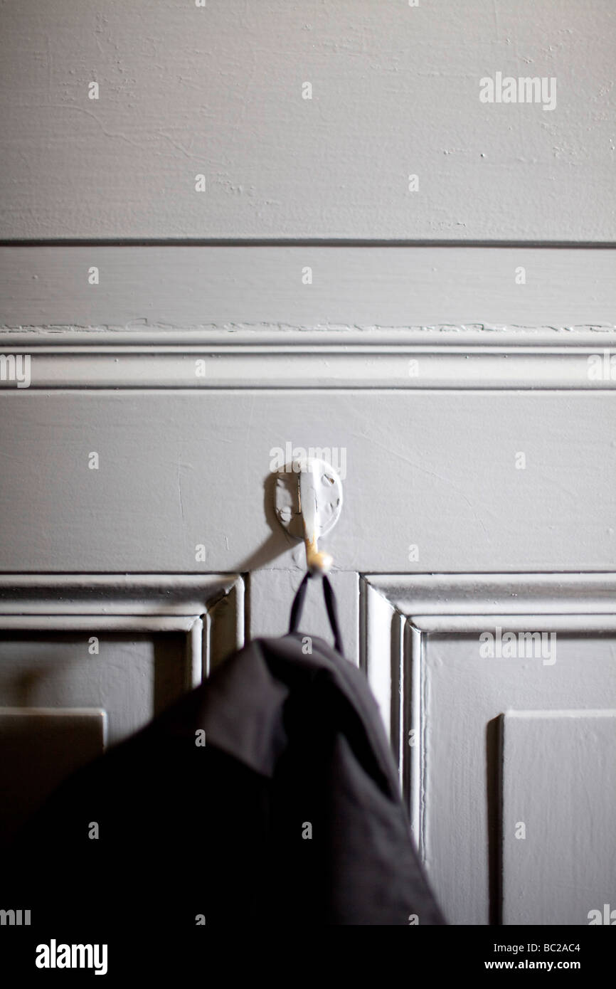 coat hook - Stock Image