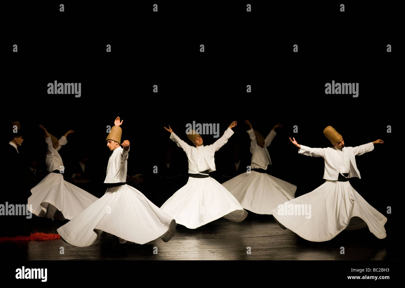Whirling Dervishes in Istanbul Turkey - Stock Image