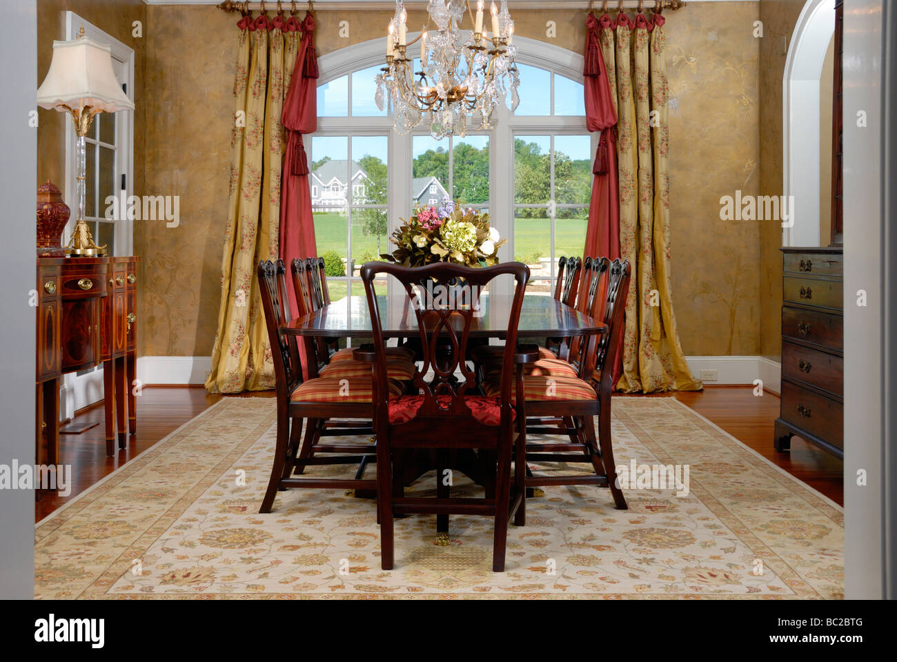Residential dining room interior - Stock Image