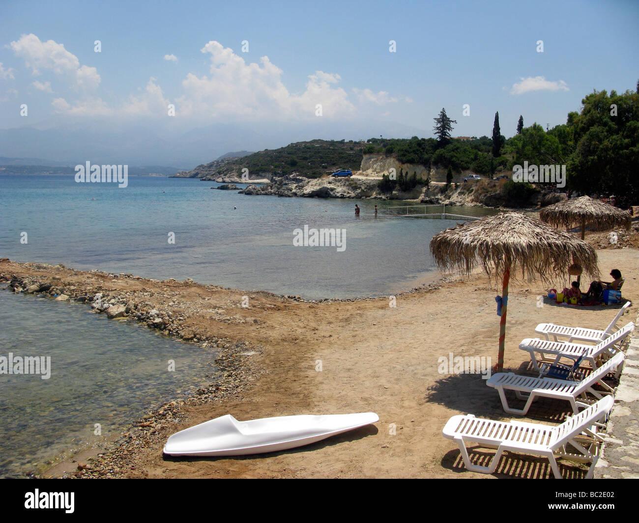Greece West Crete Marathi Beach Akrotiri district of Chania - Stock Image