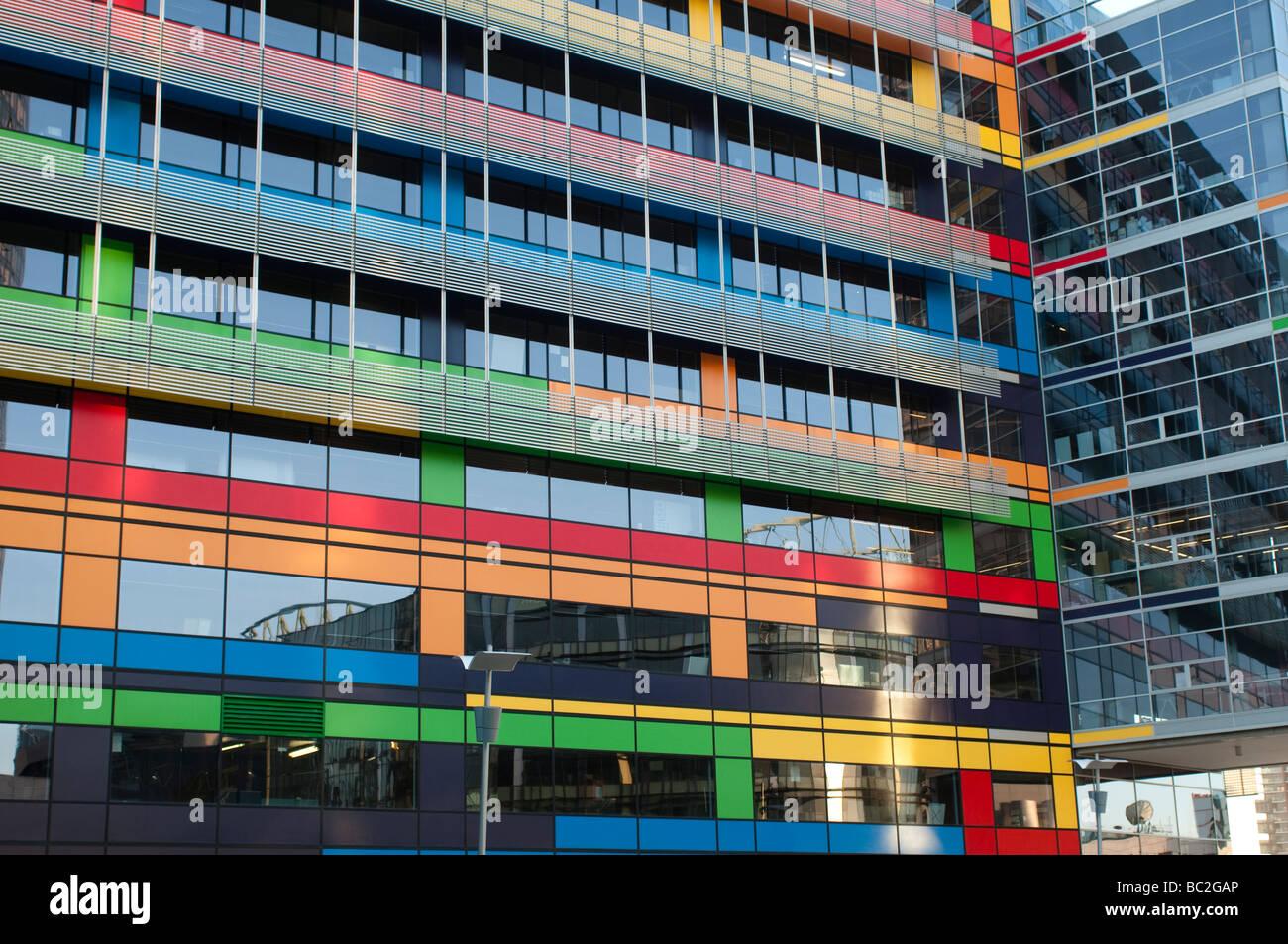 NAB building, Victoria harbour, Docklands, Melbourne, Victoria, Australia - Stock Image
