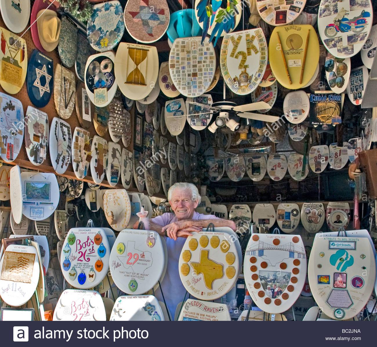 Toilet seat museum in San Antonio, Texas Stock Photo   Alamy