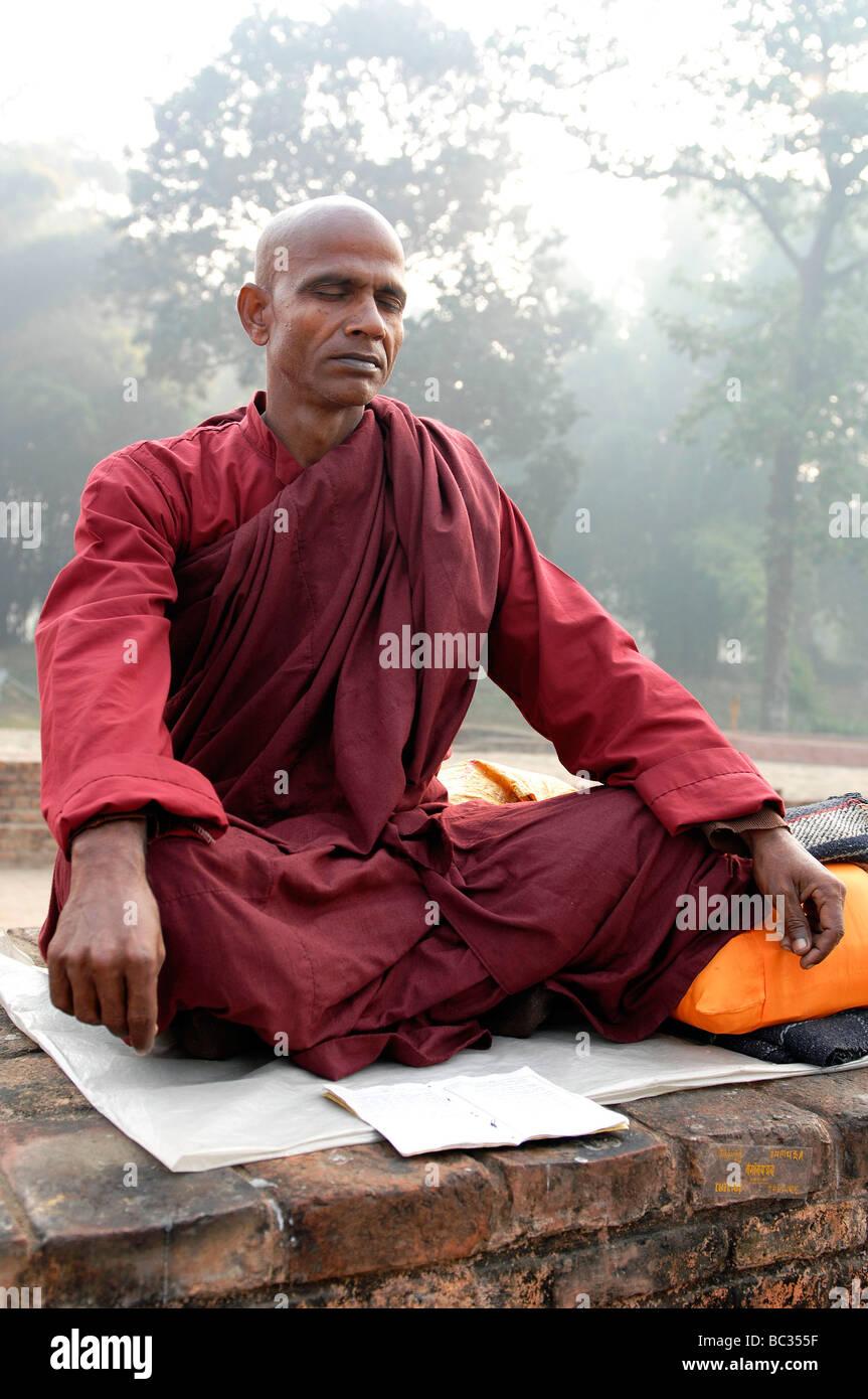 India : Indian Buddhist monks Stock Photo - Alamy