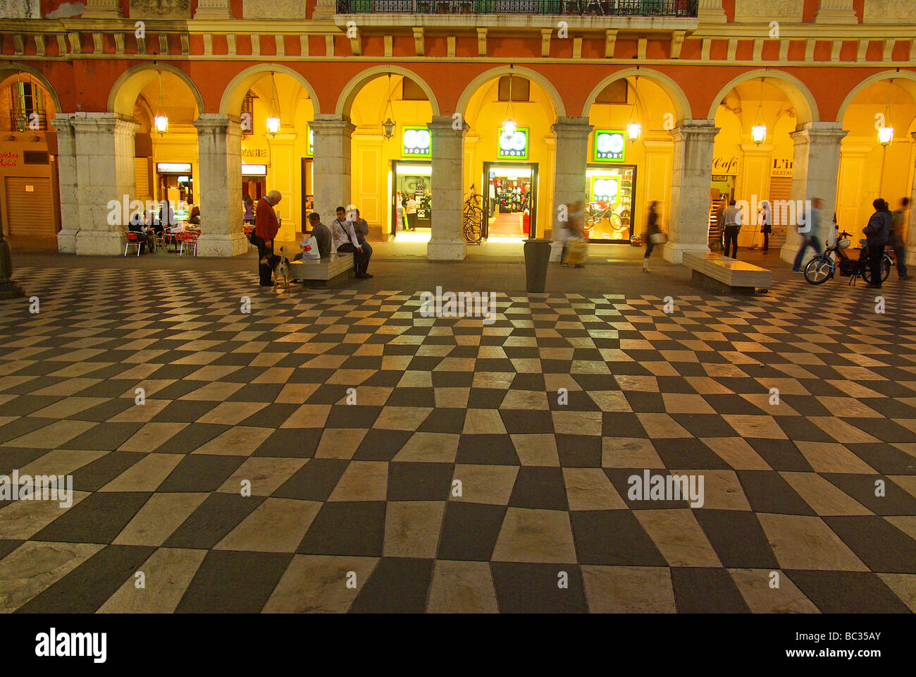 Nice (06) : the 'place Massena' square - Stock Image