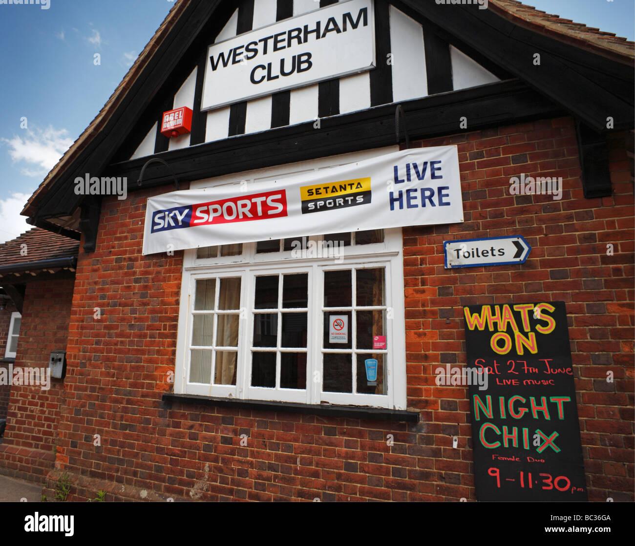 The Westerham social club Kent England UK - Stock Image