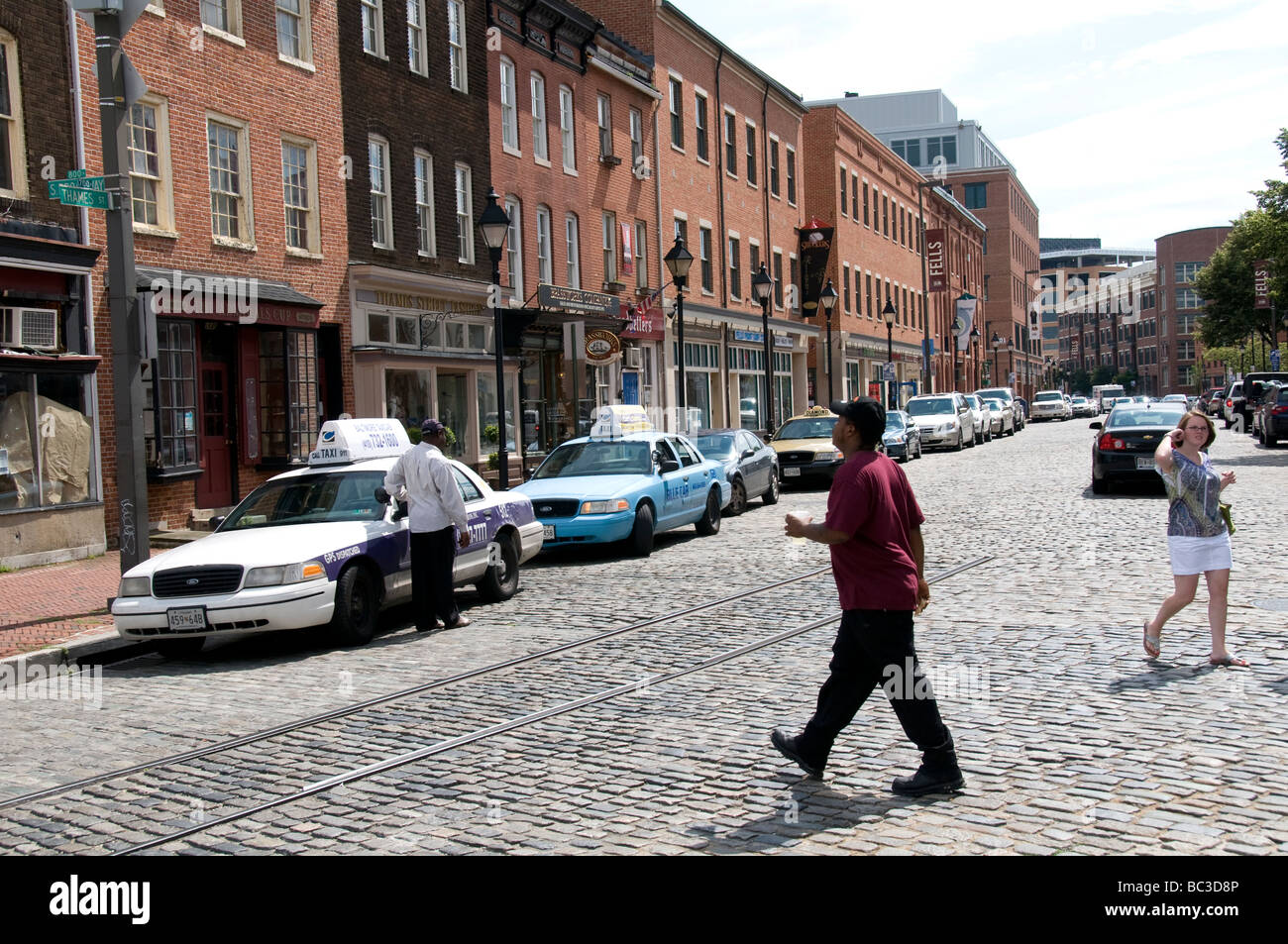 Street scenes in Baltimore MD USA. - Stock Image