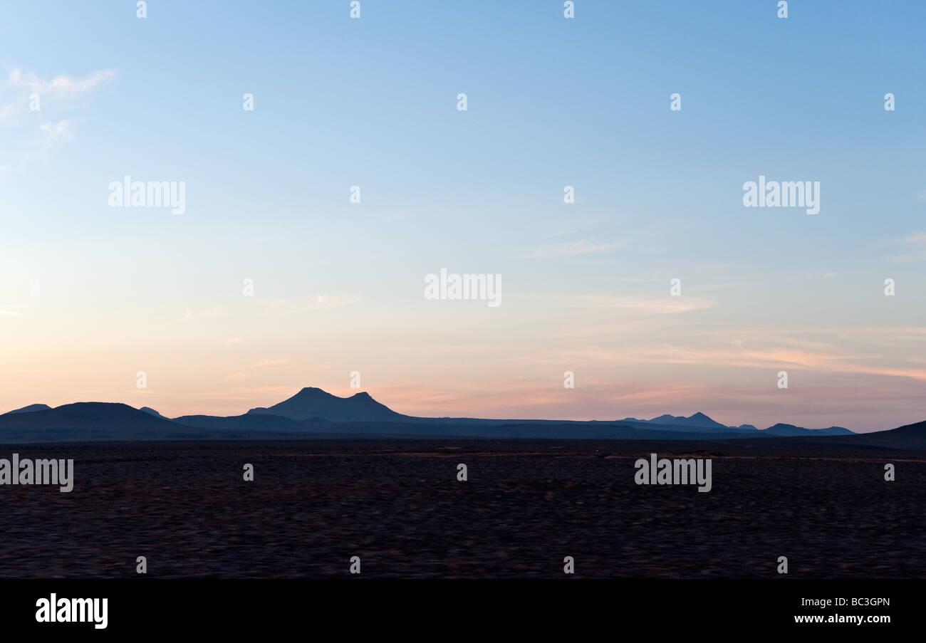 Al Ula sunset on the Elephant Rock - Stock Image