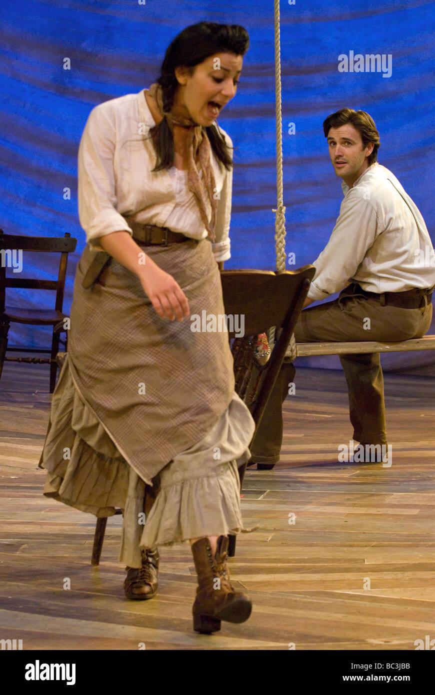 Leila Benn Harris as Laurey & Michael Xavier as Curly in Oklahoma!   Chichester Festival Theatre, June 2009. - Stock Image