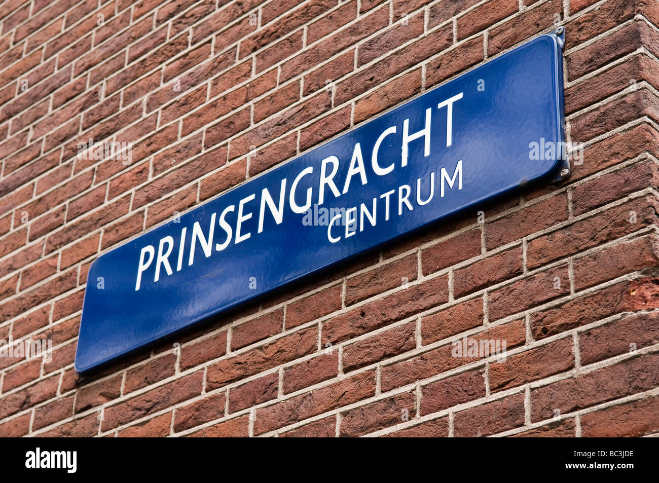 Street sign for the Prinsengracht - Stock Image