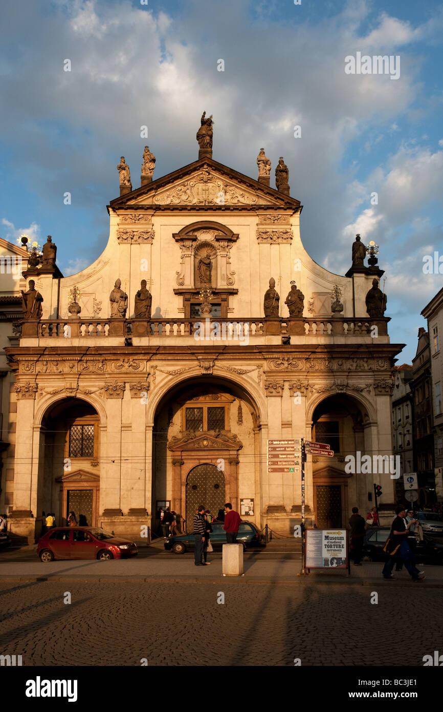 Clementinum Prague Jesuit College baroque Charles Bridge - Stock Image