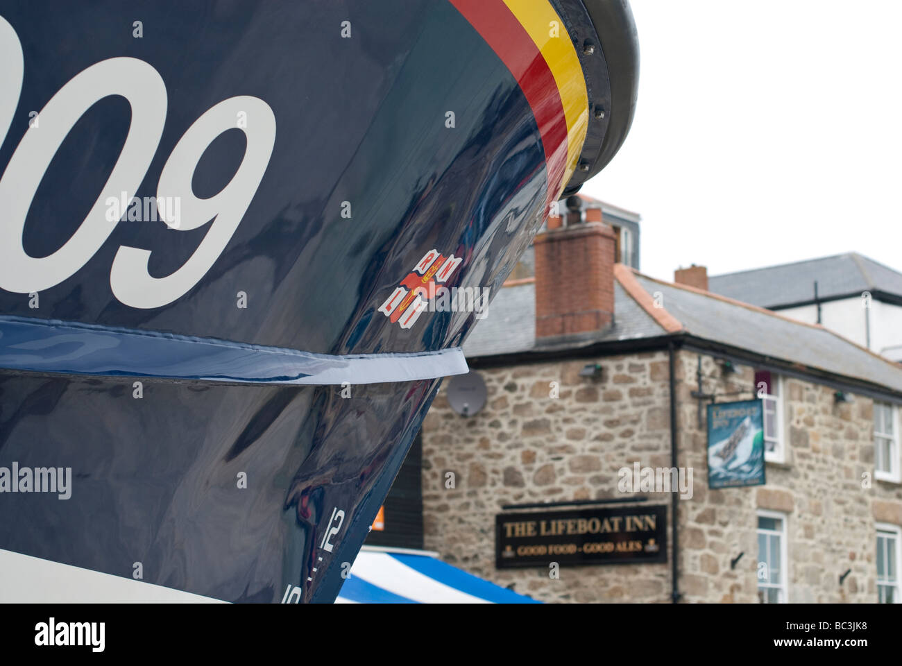 The Lifeboat Inn St Ives - Stock Image