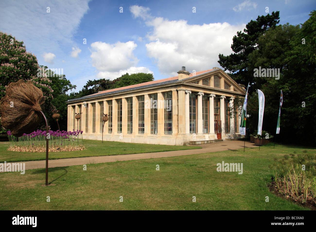 The Nash Conservatory, the Royal Botanic Gardens, Kew, Surrey, England. - Stock Image