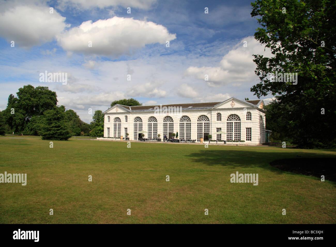 The Orangery Restaurant, The Royal Botanic Gardens, Kew, Surrey, England. - Stock Image