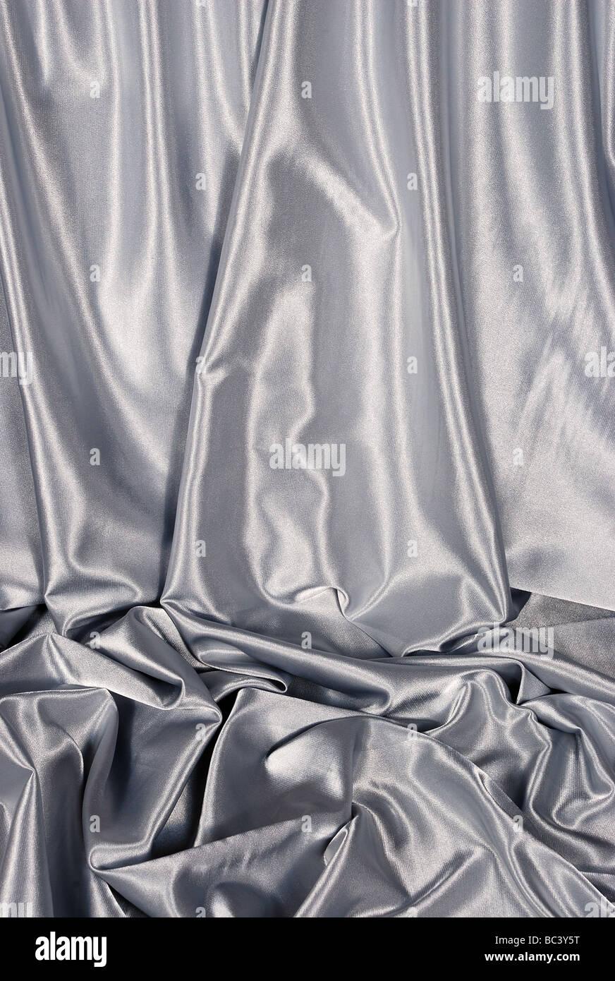 elegant white satin background - Stock Image