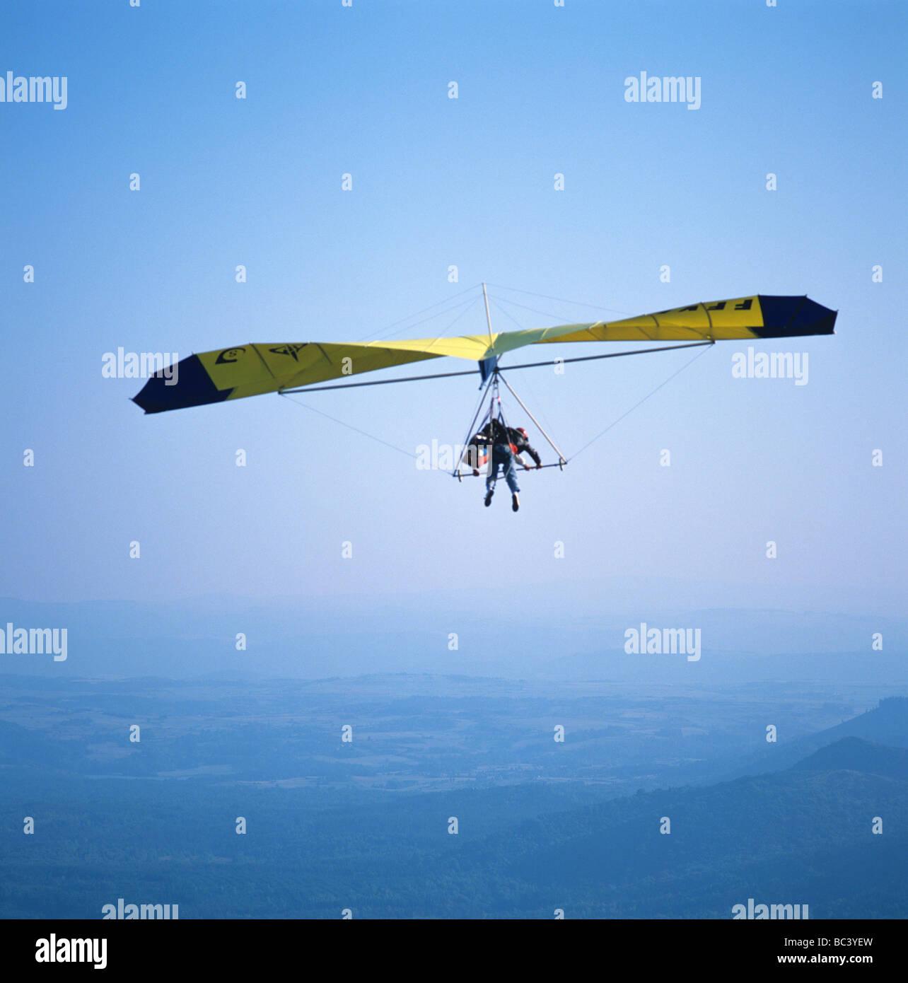 Paragliding : Hang gliding - Stock Image