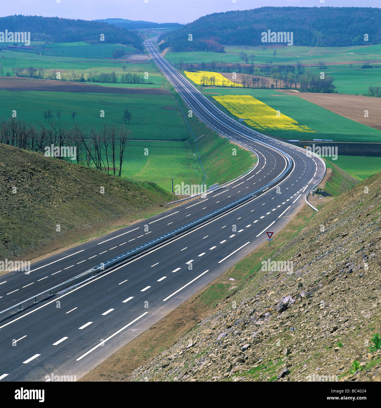 French autoroute motorway - Stock Image