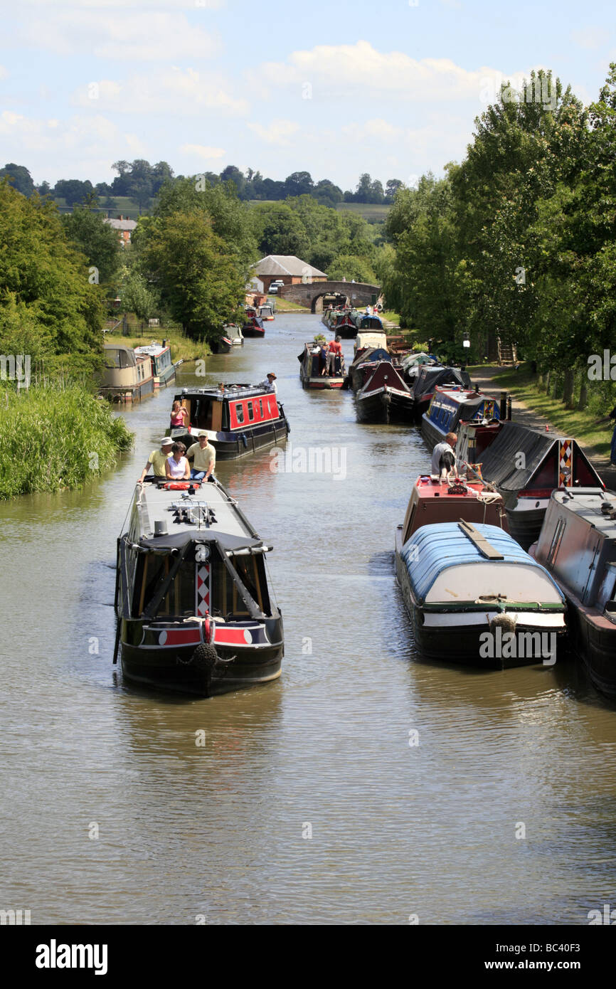 Boat Gathering at Braunston Northamptonshire - Stock Image