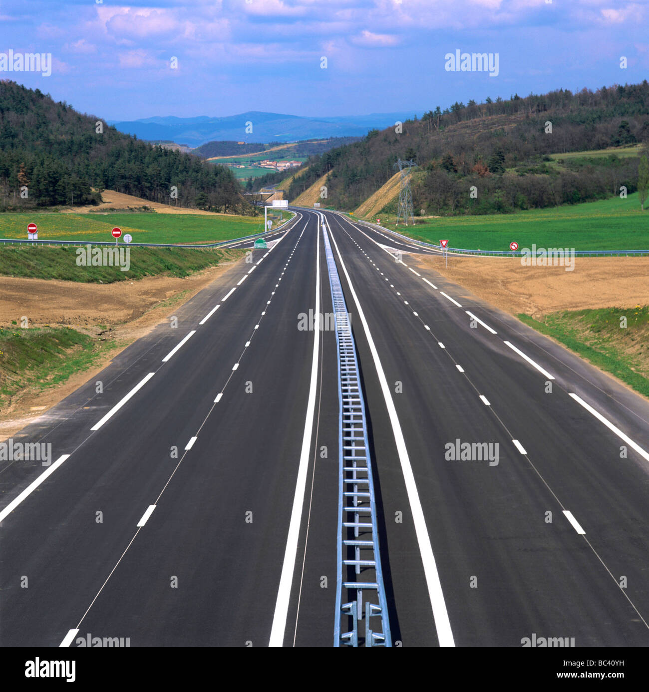 French motorway. - Stock Image