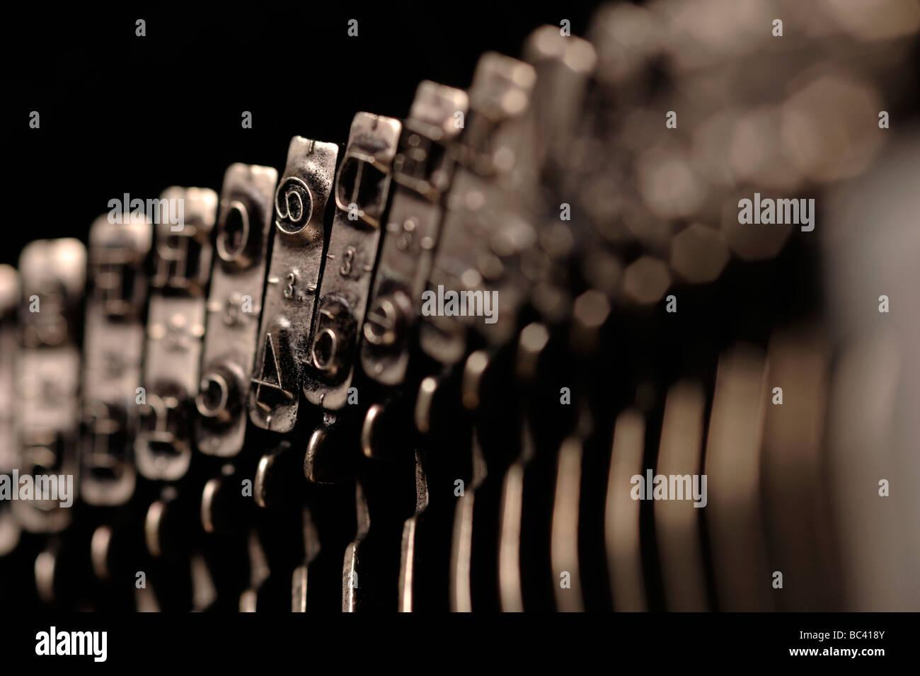 Typewriter metal type - Stock Image