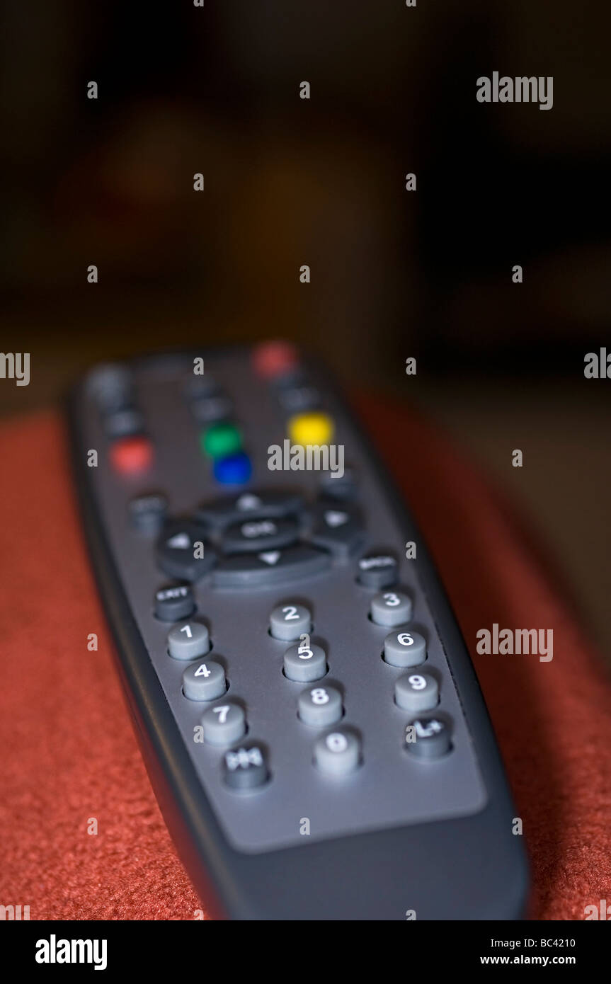 a remote control for a tv freeview box in the uk Stock Photo