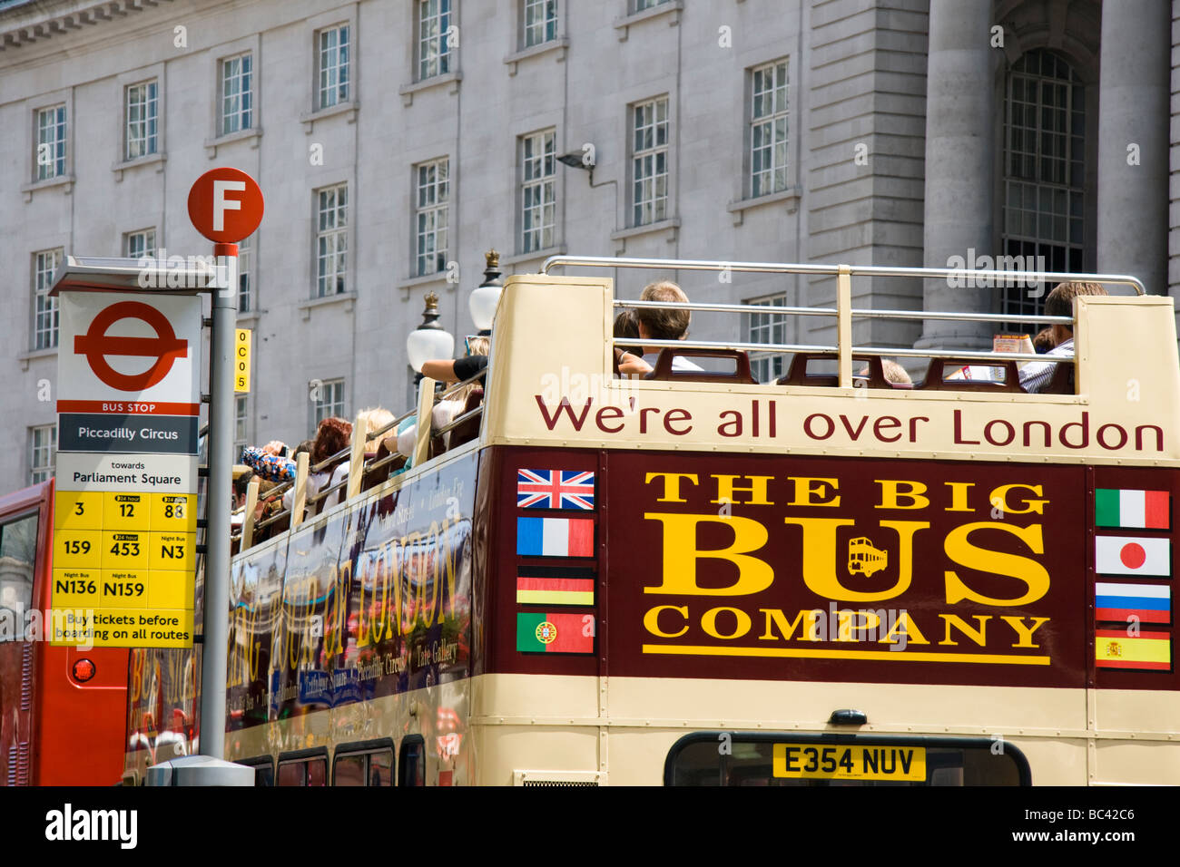 The Big Bus Company open top bus Regent Street London England UK - Stock Image