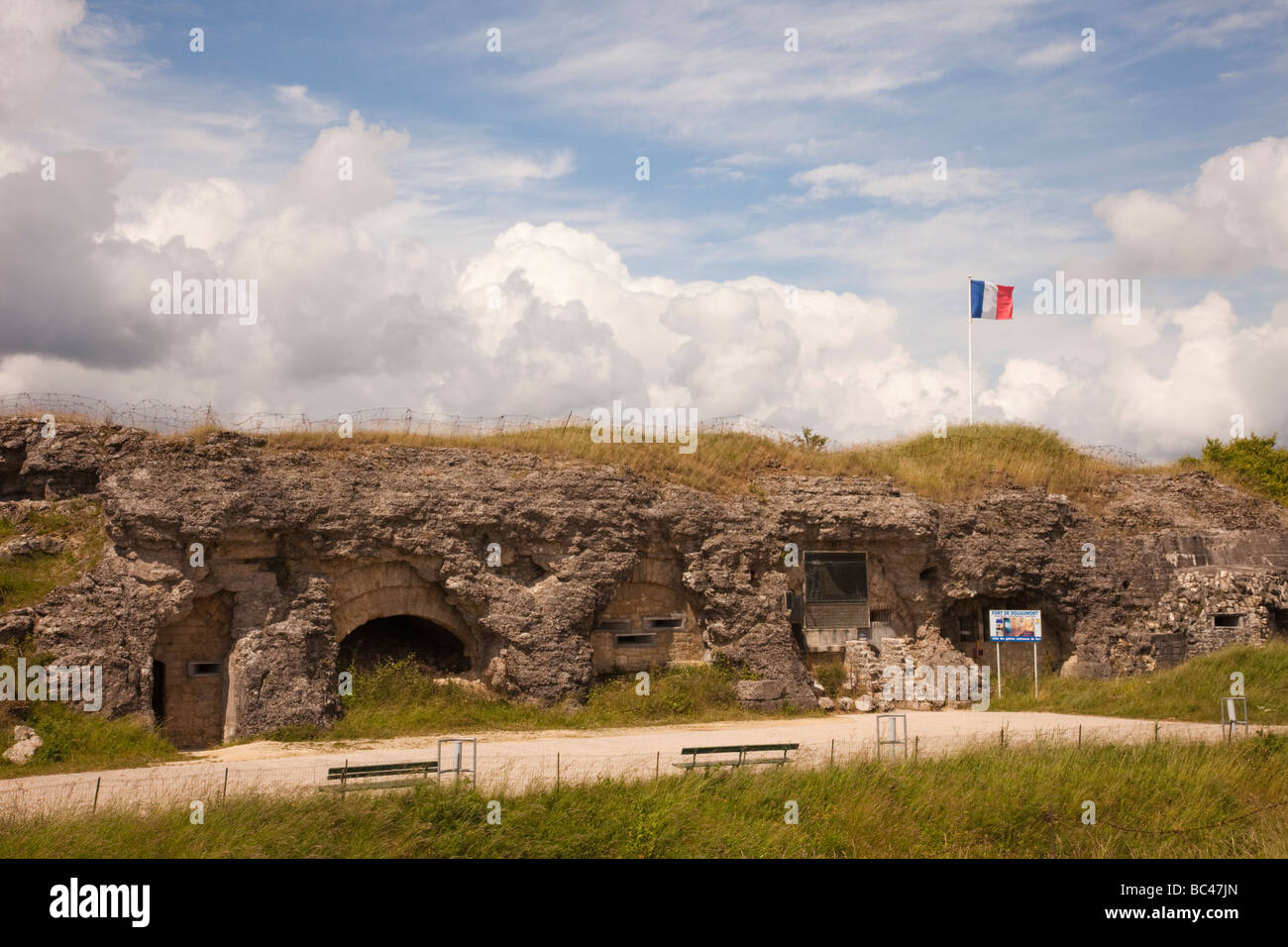 Douaumont Verdun Lorraine France Europe.  Fort de Douaumont WW1 fortification  for the battle of Verdun now a museum - Stock Image