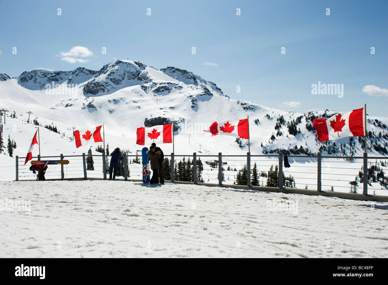 Whistler mountain resort venue of the 2010 Winter Olympic Games - Stock Image