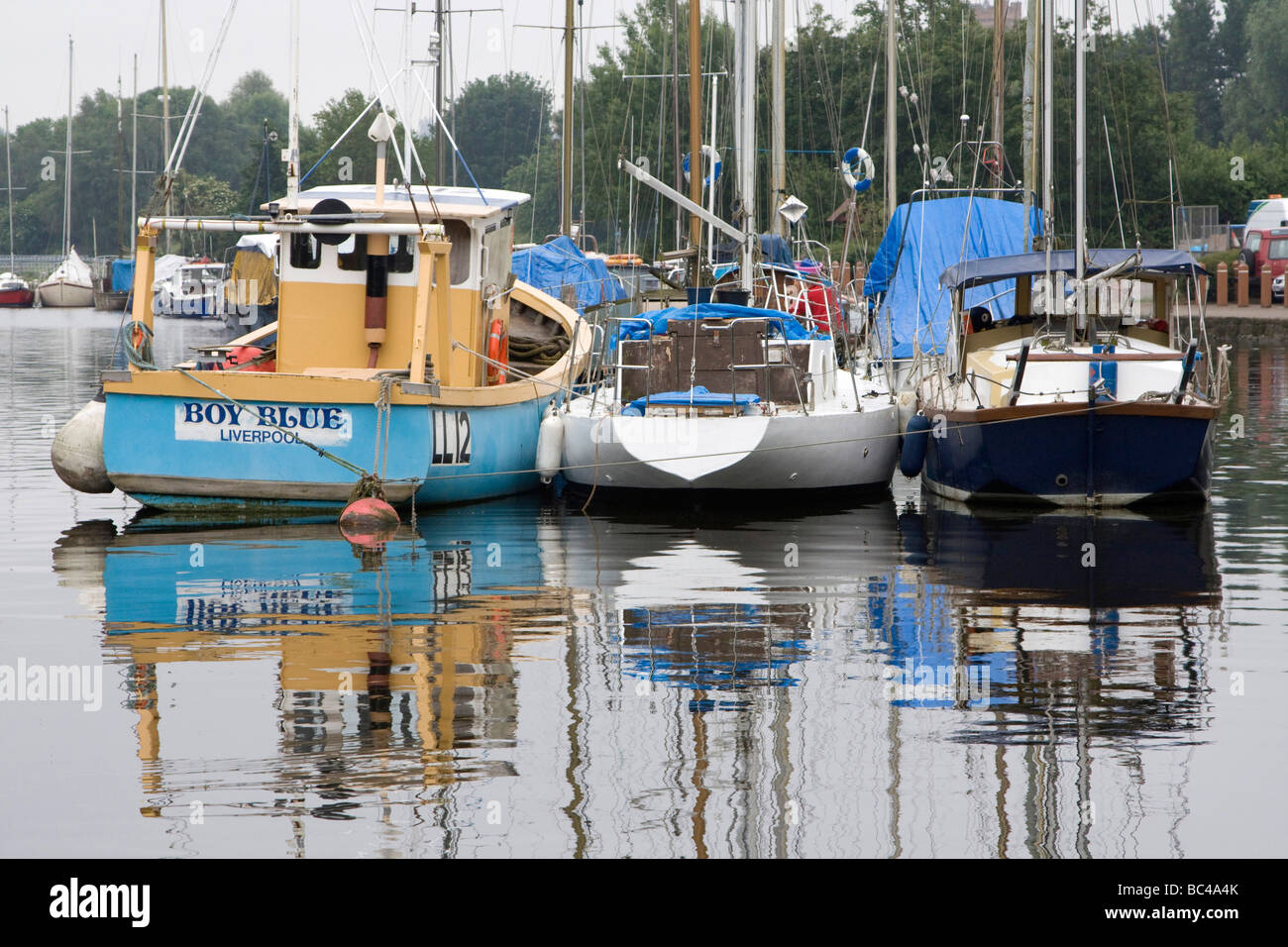 St Helens Canal by River mersey widnes waterfront west bank england uk gb - Stock Image