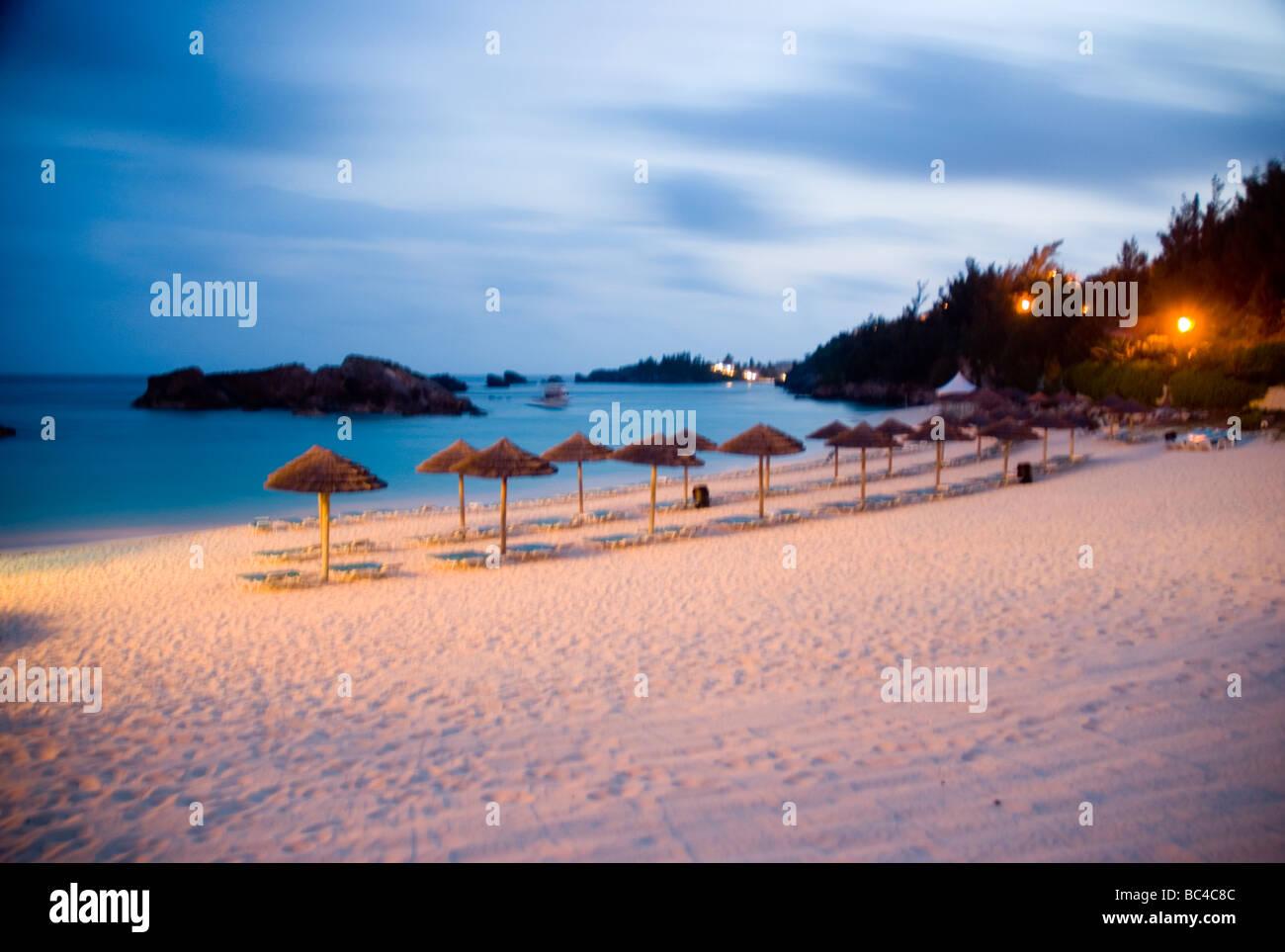 The beach of the Fairmont Southampton Hotel Southampton Bermuda Southampton. - Stock Image