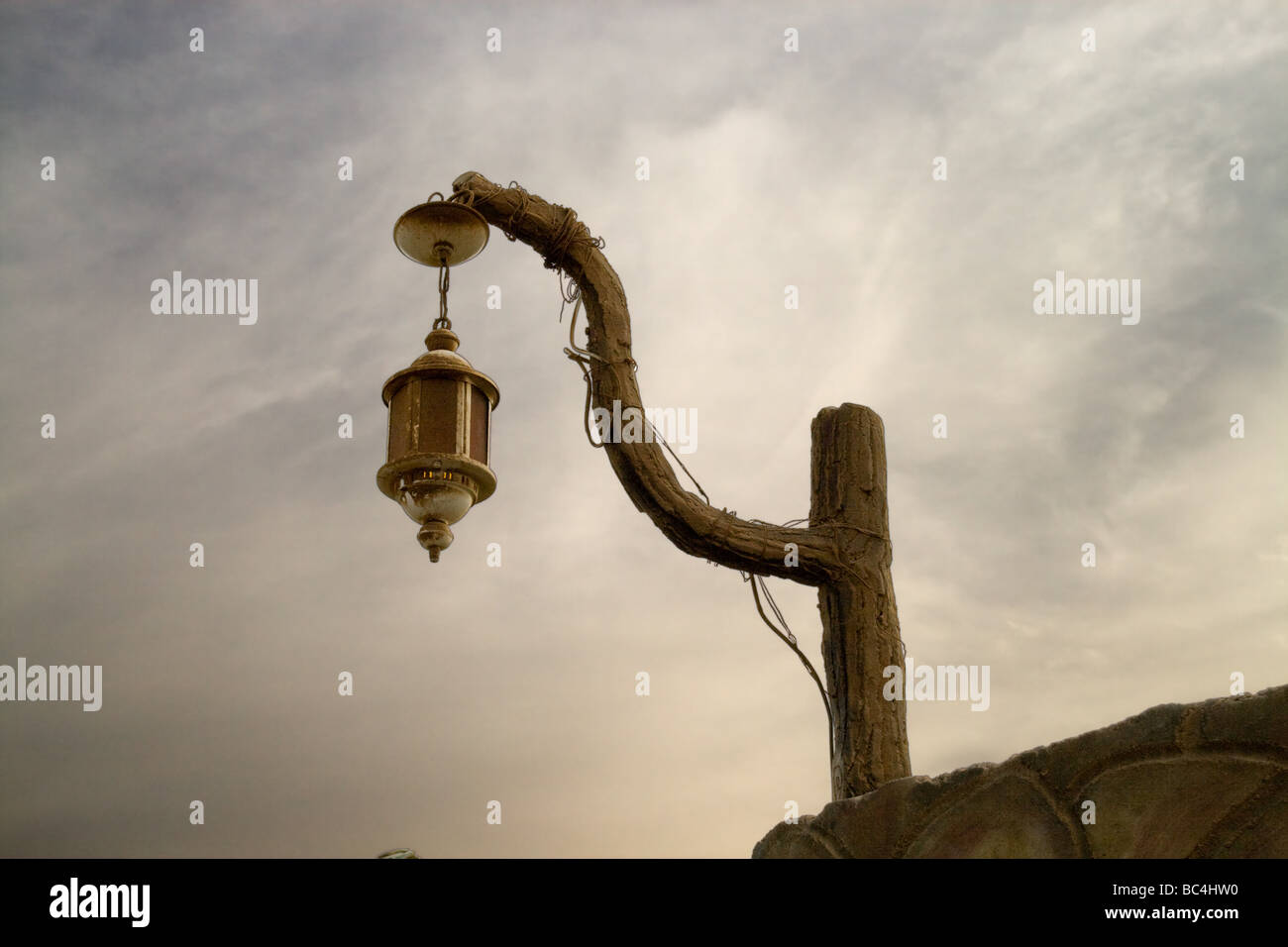 Old street lamp in Dahab, Republic of Egypt - Stock Image