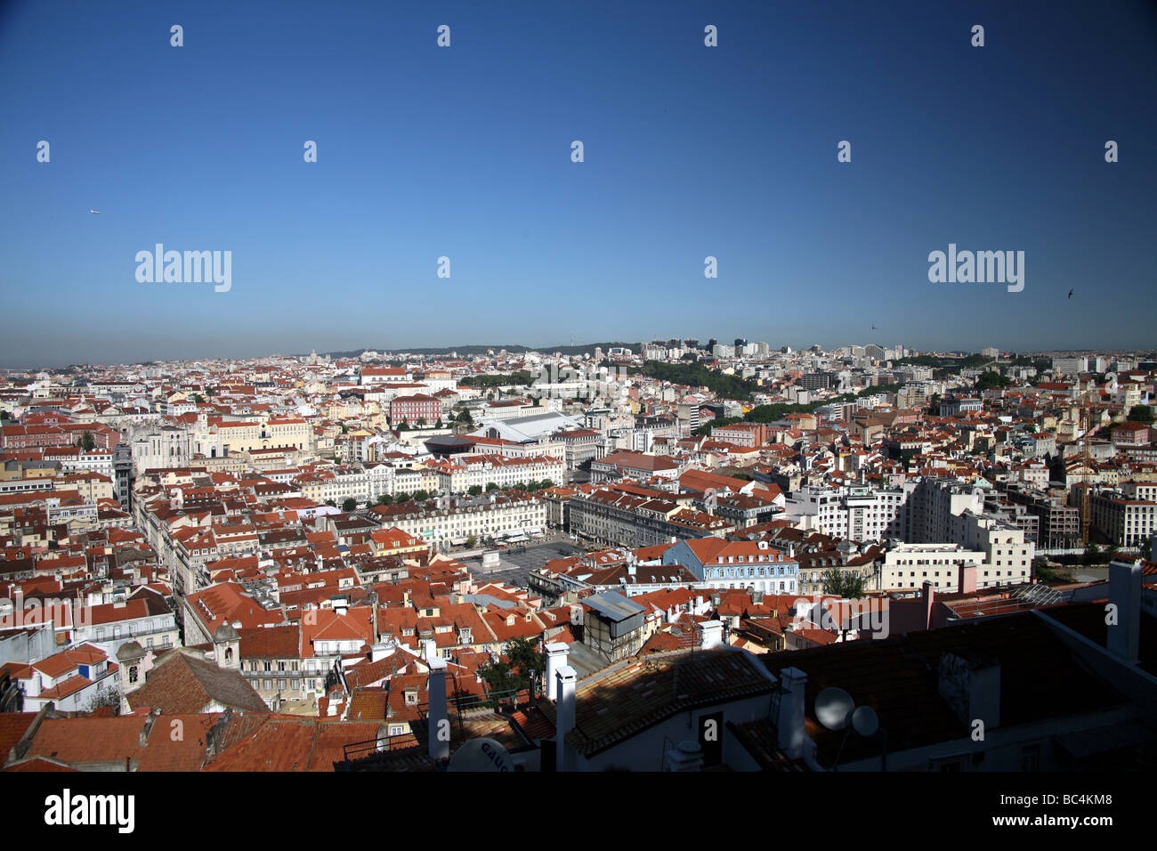 View from Saint George Castle Lisbon - Stock Image