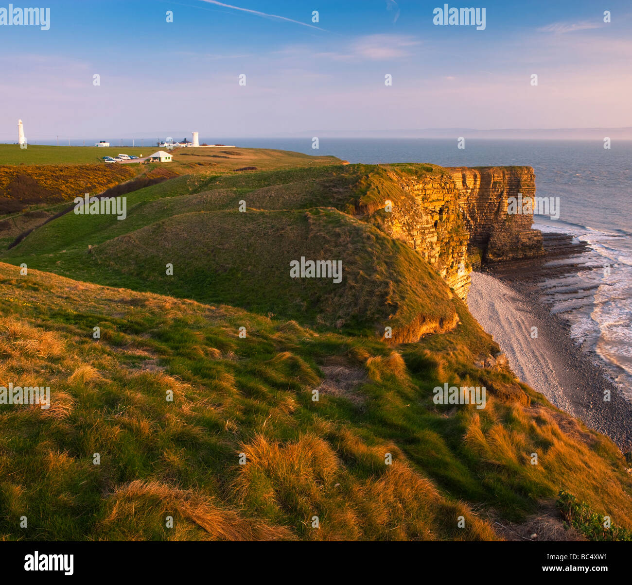 Nash Point nr St Donats Glamorgan Wales Heritage coast - Stock Image