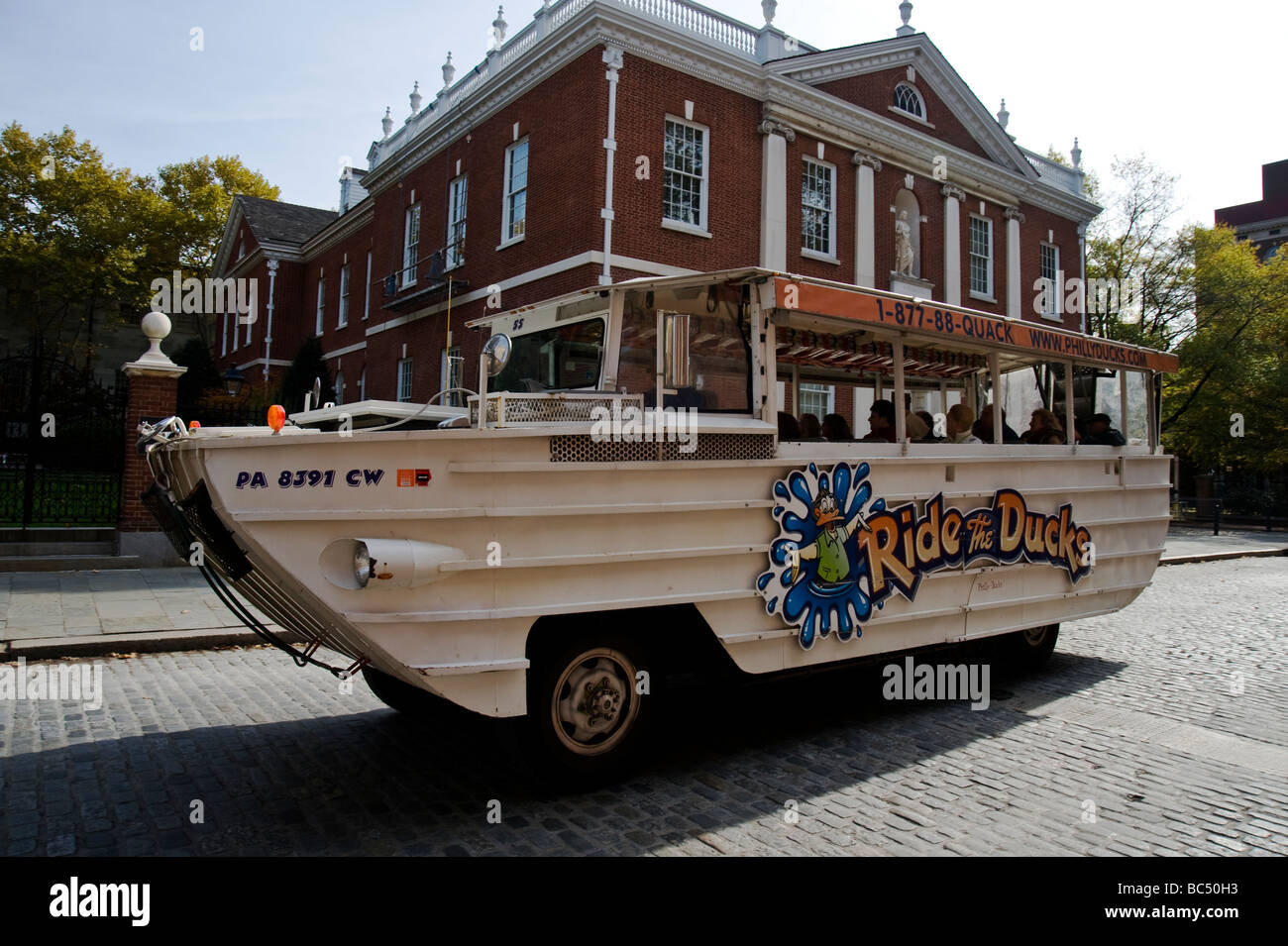 Duck tours in Philadelphia Stock Photo
