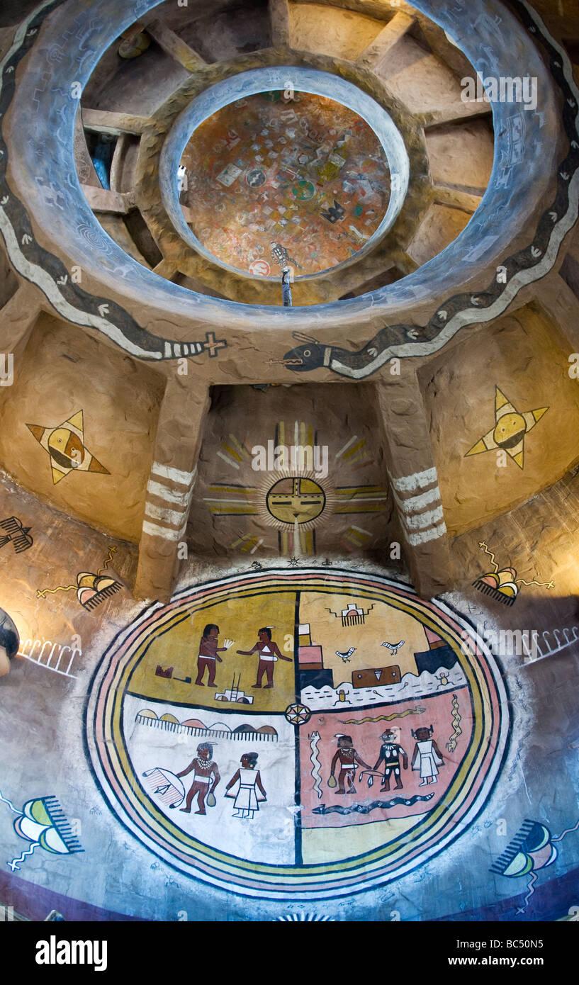Interior of Hopi House at Grand Canyon South Rim Stock Photo