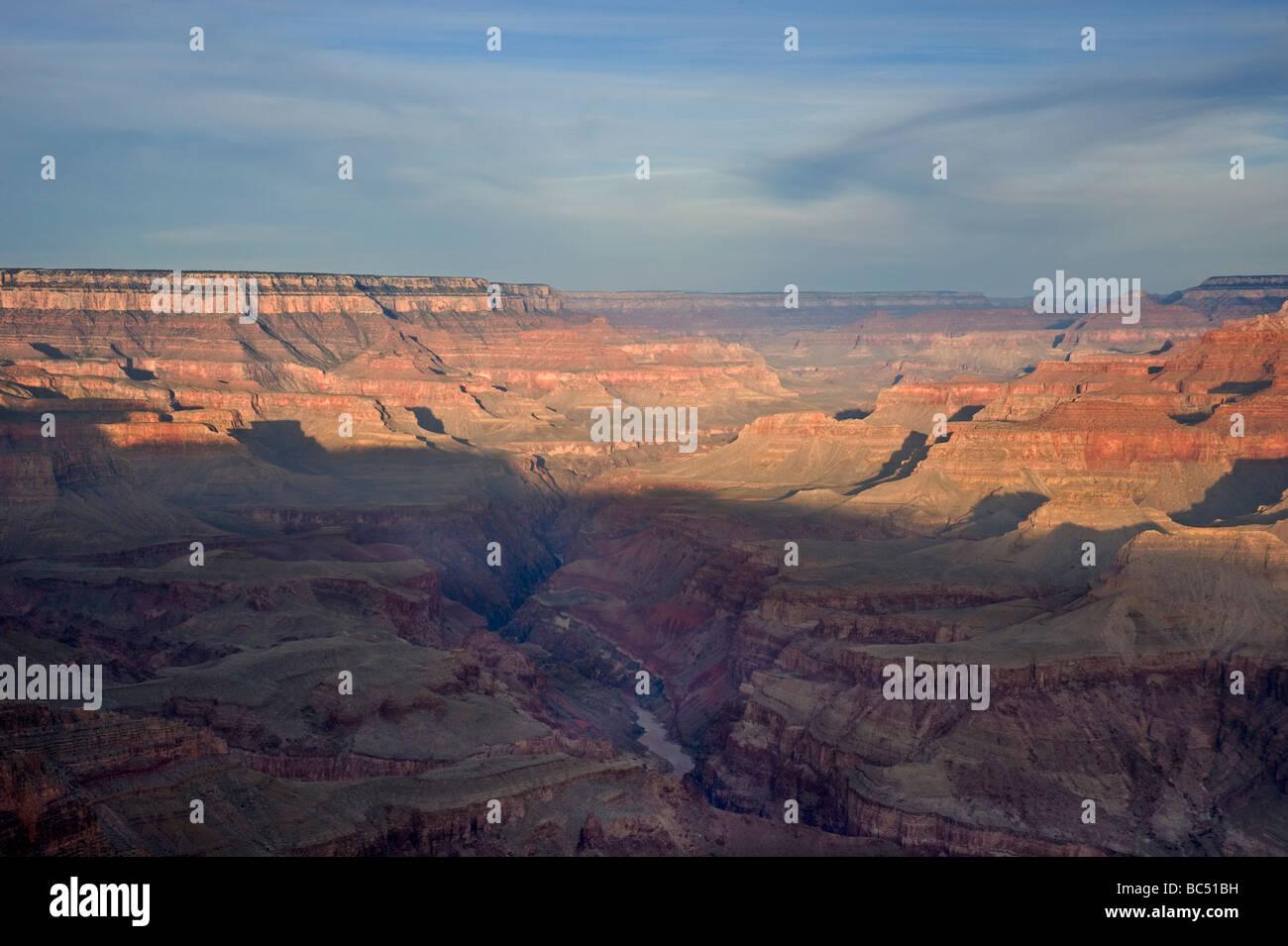 Sunrise illuminates the Grand Canyon Stock Photo