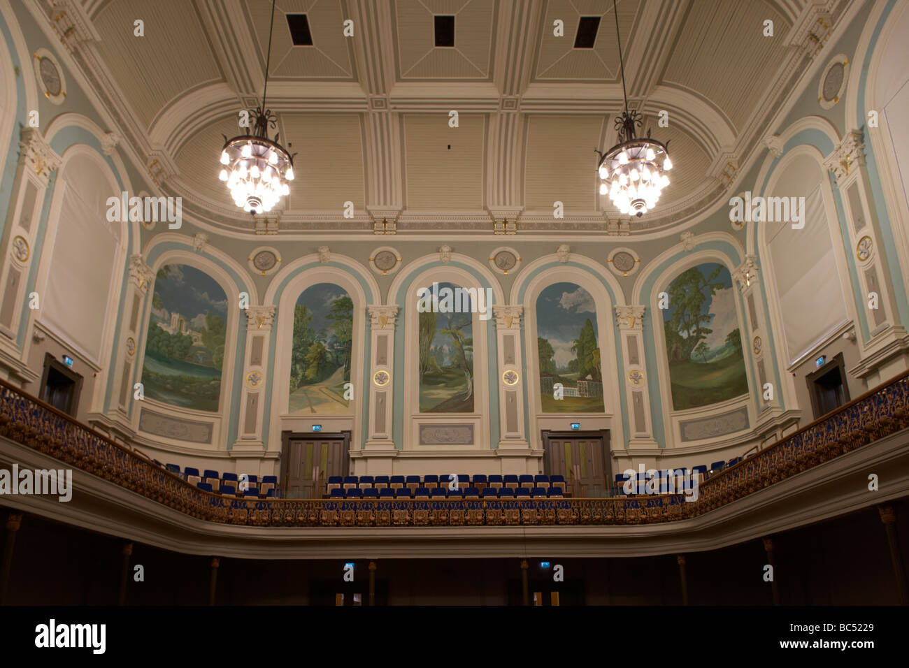 interior of the newly refurbished ulster hall venue in belfast northern ireland uk - Stock Image