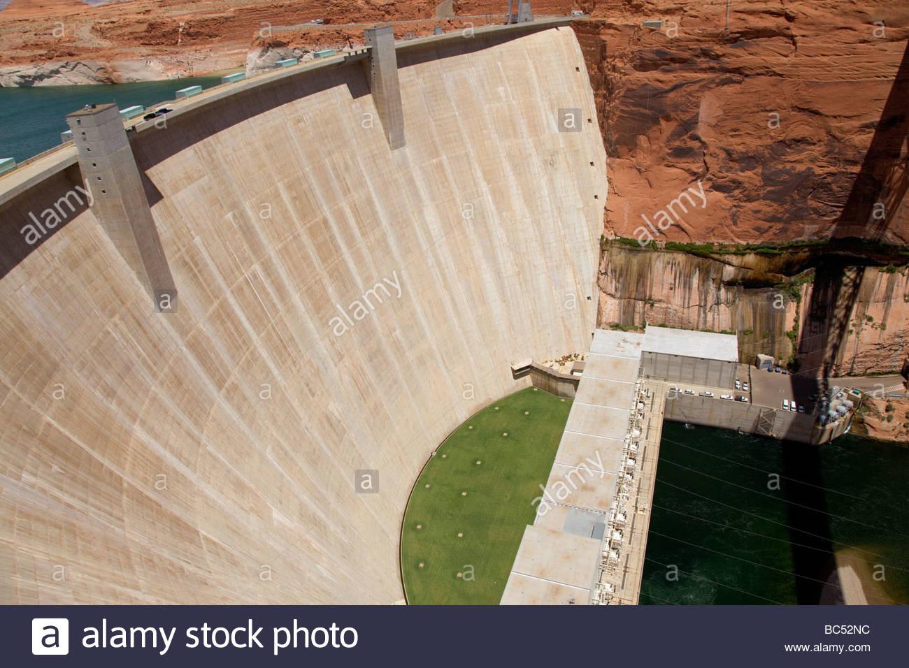Glen Canyon Dam Arizona powerplant - Stock Image