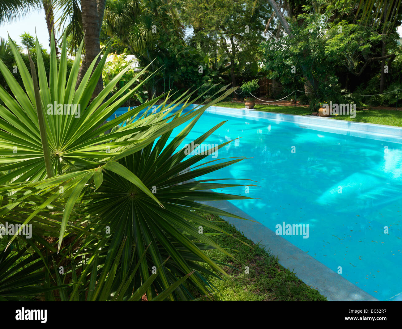 Ernest Hemingway House in Key West, the swimming pool Stock Photo