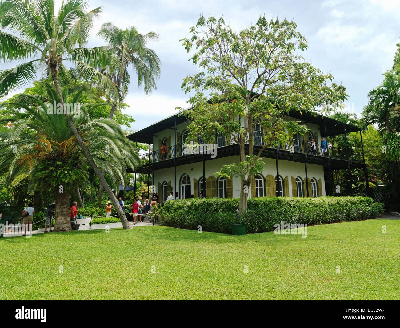 Ernest Hemingway House in Key West,exterior view Stock Photo